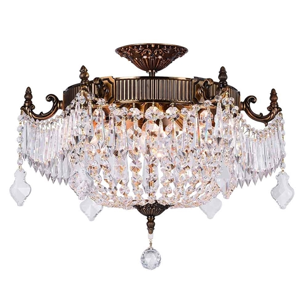 """Picture of 22"""" 6 Light Bowl Flush Mount with French Gold finish"""