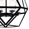"Picture of 22"" 6 Light Candle Chandelier with Black finish"