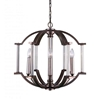 "Picture of 22"" 6 Light Candle Chandelier with Brownish Silver finish"