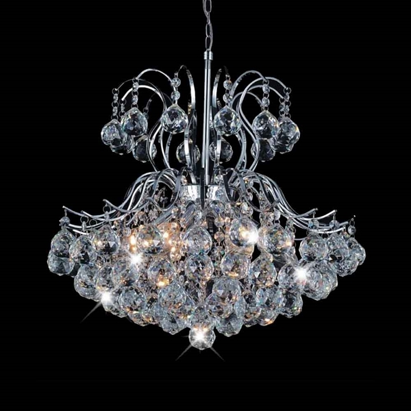 "Picture of 22"" 6 Light Down Chandelier with Chrome finish"