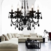 "Picture of 22"" 6 Light Up Chandelier with Black finish"