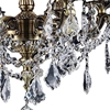 "Picture of 22"" 6 Light Up Chandelier with French Gold finish"