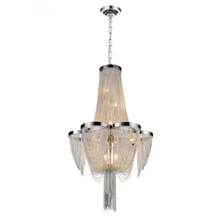 """22"""" 7 Light Down Chandelier with Chrome finish"""