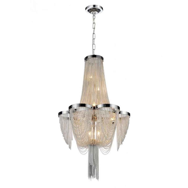 "Picture of 22"" 7 Light Down Chandelier with Chrome finish"