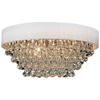 """Picture of 22"""" 8 Light  Flush Mount with Chrome finish"""