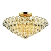"Picture of 22"" 8 Light  Flush Mount with Gold finish"