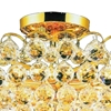"""Picture of 22"""" 8 Light  Flush Mount with Gold finish"""