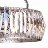 """Picture of 22"""" 8 Light Down Chandelier with Bright Nickel finish"""