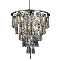 """22"""" 8 Light Down Chandelier with Chrome finish"""