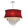 "Picture of 22"" 8 Light Drum Shade Chandelier with Chrome finish"