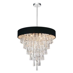 "22"" 8 Light Drum Shade Chandelier with Chrome finish"