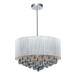 "22"" 9 Light Drum Shade Chandelier with Chrome finish"
