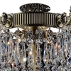 "Picture of 22"" Caro Traditional Crystal Round Semi-Flush Mount Ceiling Lamp Antique Brass 6 Lights"