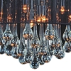 "Picture of 22"" Gocce Modern String Drum Shade Crystal Round Chandelier Polished Chrome with Black / White / Silver Shade 9 Lights"