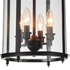 """Picture of 22"""" Lantern Contemporary Rubbed Oil Bronze Round Chandelier 4 Lights"""