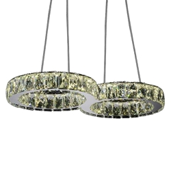 "22"" LED  Chandelier with Chrome finish"