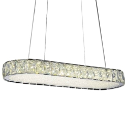 """22"""" LED  Chandelier with Chrome finish"""