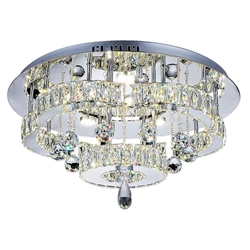 "22"" LED  Flush Mount with Chrome finish"