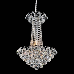 """23"""" 11 Light Down Chandelier with Chrome finish"""