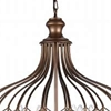 "Picture of 23"" 3 Light  Chandelier with Antique Bronze finish"