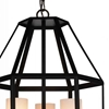 """Picture of 23"""" 3 Light Candle Pendant with Black finish"""