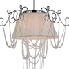 """Picture of 23"""" 4 Light Drum Shade Chandelier with Chrome finish"""