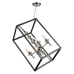 """23"""" 4 Light Up Chandelier with Luxor Silver finish"""