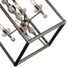 "Picture of 23"" 4 Light Up Chandelier with Luxor Silver finish"