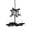 "Picture of 23"" 4 Light Up Chandelier with Speckled copper finish"