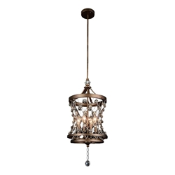 """23"""" 4 Light Up Pendant with Speckled Bronze finish"""