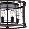 "Picture of 23"" 6 Light Drum Shade Pendant with Black finish"