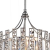 "Picture of 23"" 8 Light Drum Shade Chandelier with Antique Forged Silver finish"