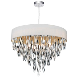 """23"""" 8 Light Drum Shade Chandelier with Chrome finish"""