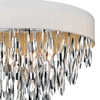 """Picture of 23"""" 8 Light Drum Shade Chandelier with Chrome finish"""
