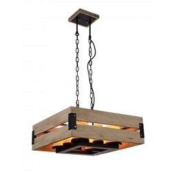 """23"""" 8 Light Up Chandelier with Black finish"""