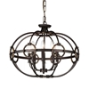 "Picture of 23"" 8 Light Up Chandelier with Brushed Golden Brown finish"