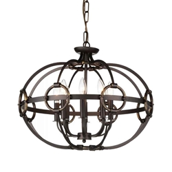 """23"""" 8 Light Up Chandelier with Brushed Golden Brown finish"""