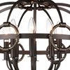 """Picture of 23"""" 8 Light Up Chandelier with Brushed Golden Brown finish"""