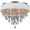 """Picture of 23"""" 9 Light Drum Shade Flush Mount with Chrome finish"""