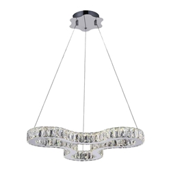 """23"""" LED  Chandelier with Chrome finish"""