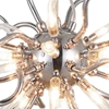 "Picture of 23"" Medusa Modern Round Chandelier Polished Chrome Clear Glass Shades 15 Lights"