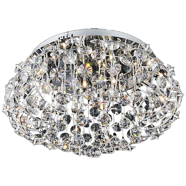"Picture of 24"" 10 Light  Flush Mount with Chrome finish"