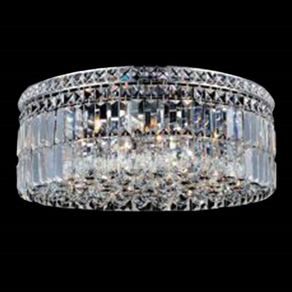 """Picture of 24"""" 10 Light  Flush Mount with Chrome finish"""