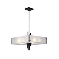 """24"""" 10 Light Chandelier with Black Finish"""
