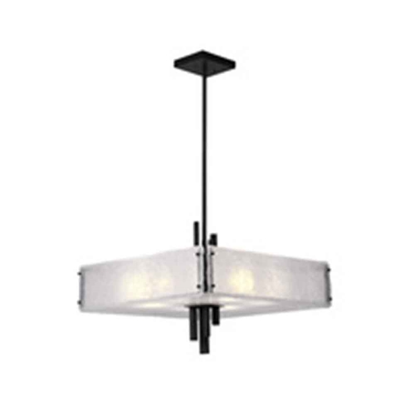 """Picture of 24"""" 10 Light Chandelier with Black Finish"""