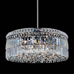 "24"" 10 Light Down Chandelier with Chrome finish"