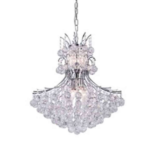 """Picture of 24"""" 10 Light Down Chandelier with Chrome finish"""