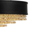 "Picture of 24"" 10 Light Drum Shade Chandelier with Black finish"