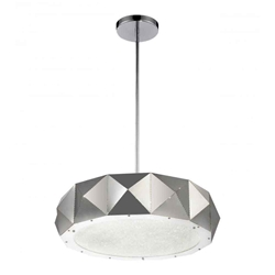 """24"""" 10 Light Drum Shade Chandelier with Chrome finish"""