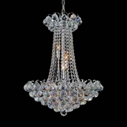 """24"""" 11 Light Down Chandelier with Chrome finish"""